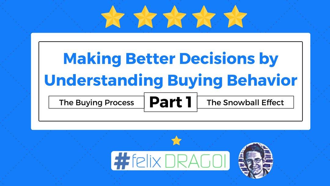 Making Better Decisions by Understanding Buying Behavior – Part 1